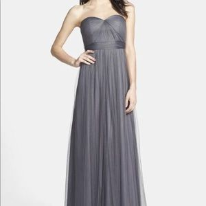 Jenny Yoo tulle strapless formal bridesmaid dress
